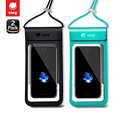 """Waterproof Case Bag Waterproof Phone Pouch IPX8 Universal Dry Bag Outdoor Underwater for iPhoneX 8Plus 7Plus/6SPlus Samsung galaxy s8/s7 Google Pixel HTC MOTO BlackBerry up to 6.0"""" Ainy by Ainy"""
