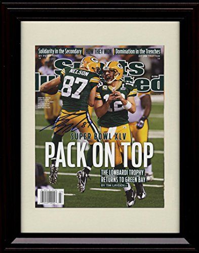 (Framed Jordy Nelson Sports Illustrated Championship Autograph Replia)