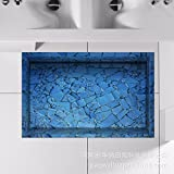 3D to/Bathroom Slip-proof surface/lounge/Foyer/kitchen/dining/WC/water/anti-skid/hd/trim posters (5890cm)
