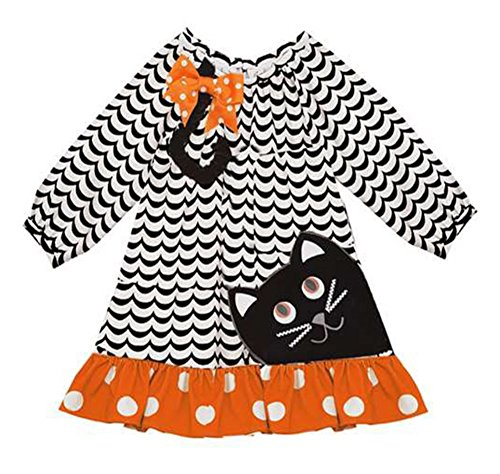 (Rare Editions Girls' Halloween Black Cat Costume Outfit)
