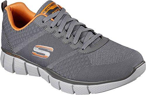 Skechers Equalizer 2.0 True Balance Mens Sneakers Charcoal / Orange