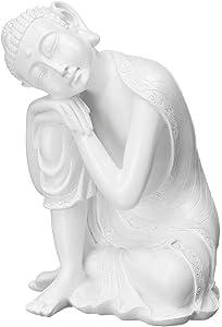 LIUSHI Sitting Buddhism Statue Resin Sleeping Buddha Ornament Sculpture Home Office Desk Decorative