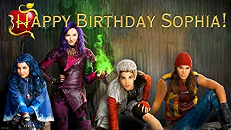Descendants Quarter Sheet Edible Photo Birthday Cake Topper~ Personalized!
