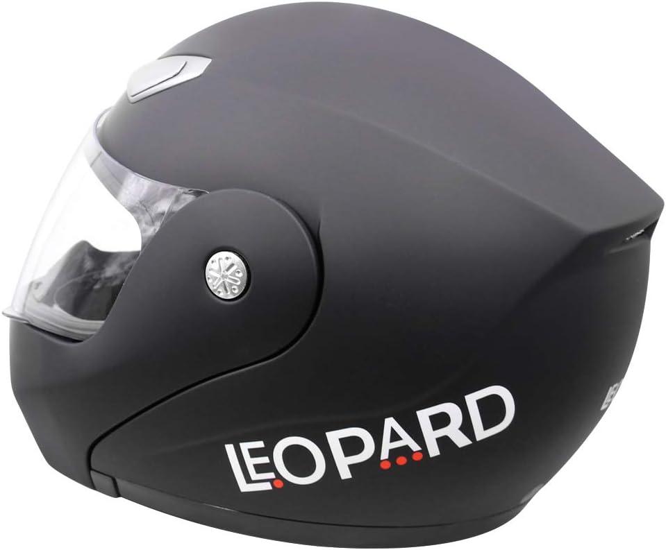 Leopard LEO-717 Casque Moto Modulable Route Juridique ECER Homologu/é Homme Femme