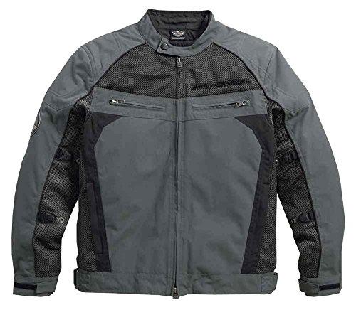 Harley-Davidson Men's Utilitarian Textile & Mesh Riding Jacket, Black 97124-16VM Large (Harley Davidson Shell)