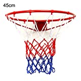 FidgetFidget Hanging Basketball Rim Wall Indoor Outdoor Mounted Goal Hoop Net Sports Netting