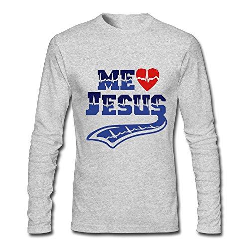 Me Gusta Jesus Pulse Tattoo Custom Mens Adult Design Long Sleeve Tee Fashion T-Shirt