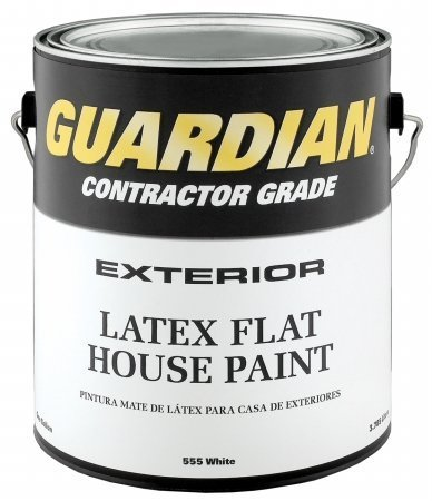 1 Gallon Flat White Latex House Paint [Set of 4] Location: Exterior by Guardian Contractor Grade