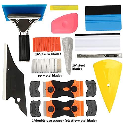 GISSVOGEEK Window Tint Application Tools,Car Window Film Tinting Tools,Vinyl Wrap Kit,11 in 1 Precut/Auto Window Tint…