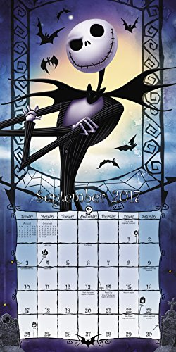 the nightmare before christmas wall calendar 2017