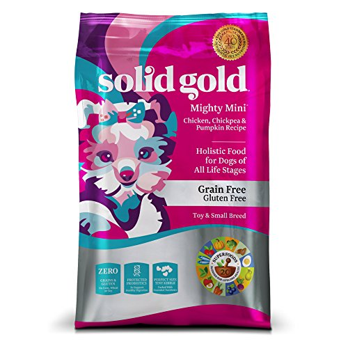 Solid Gold Small & Toy Breed Dry Dog Food; Mighty Mini Grain-Free with Real Chicken; 11 lb by Solid Gold