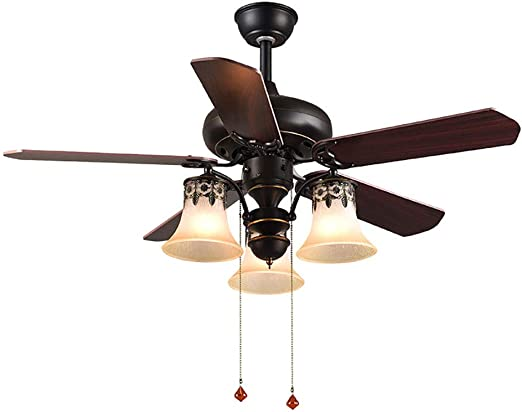 Lámpara de ventilador tradicional americana, lámpara de ventilador ...