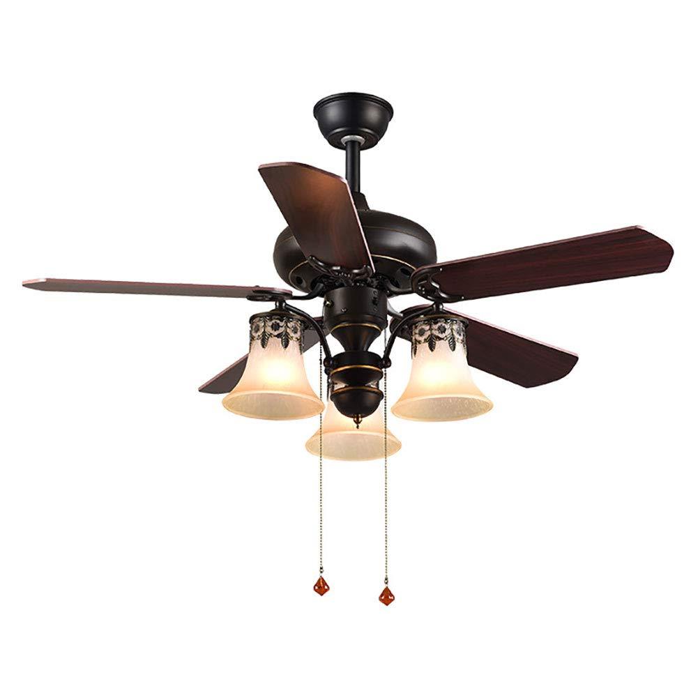 アメリカの従来のファンランプ、無声天井ファンランプ、木の葉の天井ファンランプ肯定的な、逆のファンリバーシブルの刃 (42inch)   B07RG4GJP6
