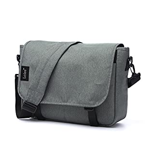 Loiee Vintage Canvas Messenger Bag,Casual Shoulder Bag,Waterproof School Bag