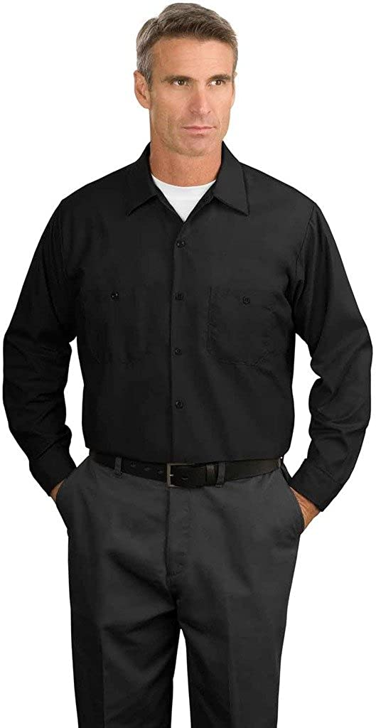 Big Mens Long Sleeve Industrial Work Shirt