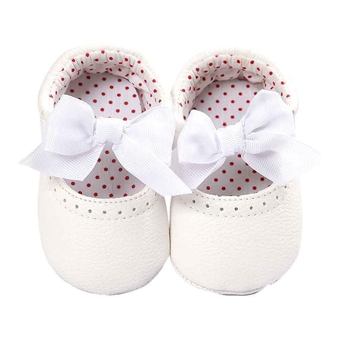 ❤ Zapatos de niña Bowknot,Zapatos de Cuero Sneaker Antideslizante Soft Sole Toddler Absolute: Amazon.es: Ropa y accesorios