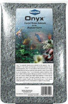 Onyx Gravel, 7 kg / 15.4 lbs by Seachem