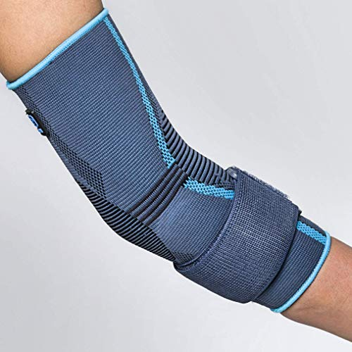 AQTIVO Sport Elbow Brace by PRIM; Medical Grade Elbow Brace Compression Sleeve for Tendonitis, Cubital Tunnel Syndrome, Bursitis, Ulnar Nerve Entrapment, Tennis Elbow; Sport or Injury Recovery - Small