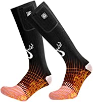 2020 Upgraded Rechargeable Electric Heated Socks,7.4V 2200mAh Battery Powered Cold Weather Heat Socks for Men