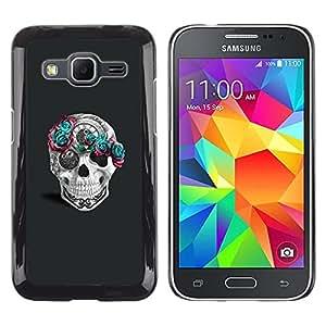 """For Samsung Galaxy Core Prime / SM-G360 Case , Flores rosadas del trullo gris Tiempo Blanca"""" - Diseño Patrón Teléfono Caso Cubierta Case Bumper Duro Protección Case Cover Funda"""