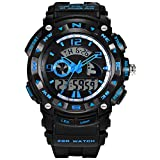 Large Face Outdoor Sport Digital Kids Watch for Boys Blue