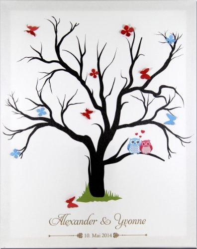 Fabelhaft Livingstyle & Wanddesign Fingerabdruck Leinwand zur Hochzeit mit &SR_11