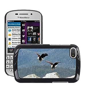 Hot Style Cell Phone PC Hard Case Cover // M00111703 Bald Eagles Flying Birds Landing // BlackBerry Q10