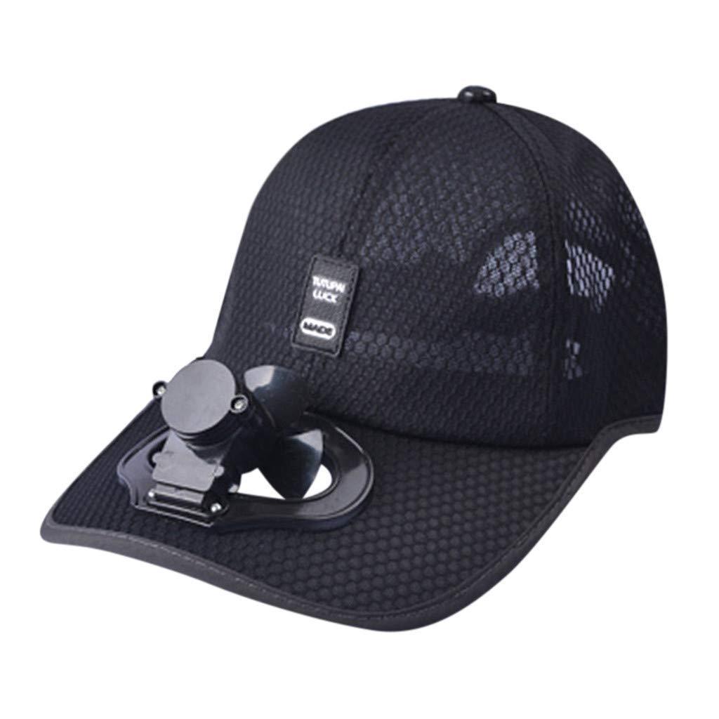 FuLanDe Ventilador Sombrero para el Verano Gorra de b/éisbol,Solar Aire Fan B/éisbol Gorro,El Sombrero de Beisbol de Ventilador accionado Solar del Aire refrigerador Sombrero