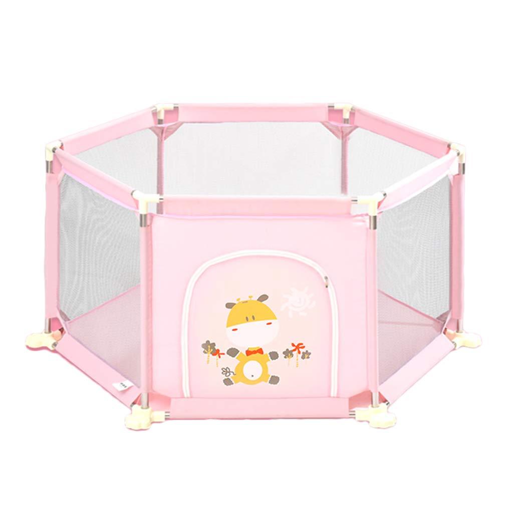 保護フェンスホーム子供の遊びフェンス赤ちゃんの幼児のフェンスのおもちゃのプレイペン (Color : Pink, Size : 152*73cm) 152*73cm Pink B07K48ZSZF
