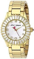 Betsey Johnson Women's BJ00247-08 Analog Display Quartz Gold Watch