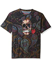 Men's Skull Rose Short Sleeve Graphic T-Shirt