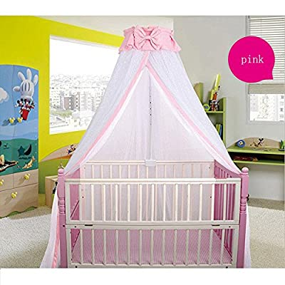 CdyBox Breathable Crib Netting Bed Curtains Canopy for Kids Mosquito Net Bedroom Decor