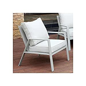 Pensbury Arm Chair in Light Grey Aluminum - Outdoor Patio