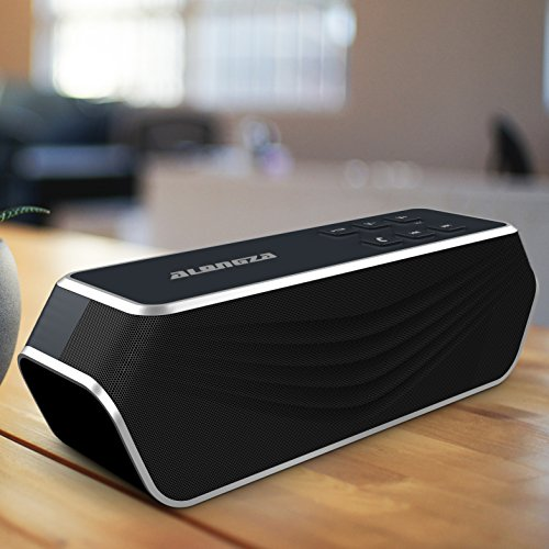 Price comparison product image Portable Wireless Bluetooth Speaker - A1 (2017 New Design) 8 watt Wireless Speaker for Outdoor,  Home,  Car including Stereo Surround Sound Design,  Heavy-duty,  24-hour Customer Support. (Black)