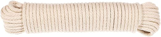 50 Feet of Cotton Braided Clothesline Rope Cotton Rope West Coast Paracord 3//16 Inch