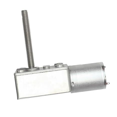 MagiDeal Motor Reducción Caja Engranajes Tornillo sin Fin Turbina Par CC 6V Eje 6V 10RPM -