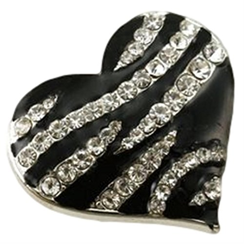 Heart Stretch Ring Clear Crystal BY Black Zebra (Heart Stretch Ring)