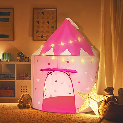 Toys for 2-9 Year Old Girls, Princess Castle Play Tent Toys for Girls Age 2-9 Outdoor Indoor Kid Toys for Girls Age 2-9 Gifts for Girls 2-9 Years Old 2-9 Year Old Girl Gifts Pink TSUSRT09