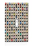 Colorful Records DVD Music Movies Pattern Light Switch Plate