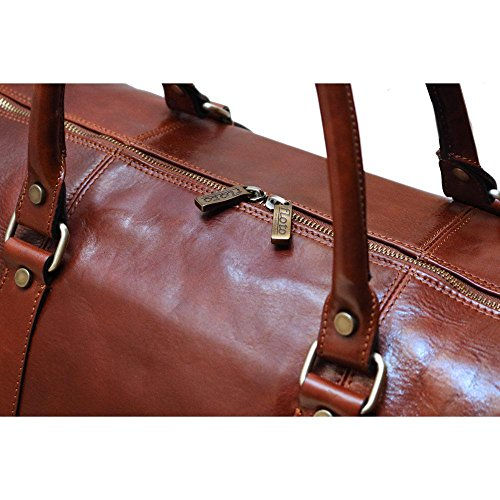 Super Tuscan Leather Duffle Travel Bag Model #1 by Floto (Image #7)