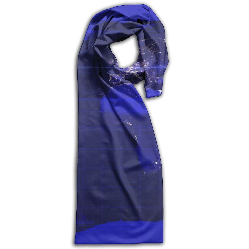 World Map 100% Polyester Soft Scarves Shawl Gorgeous Cartoon For Men And Women Gift For Travel