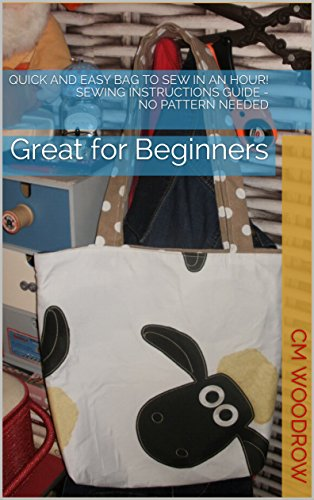 Quick and Easy Bag to Sew in an Hour! Sewing Instructions Guide - No Pattern Needed: Great for Beginners