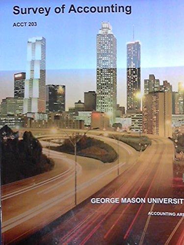 Survey of Accounting for George Mason University ACCT 203