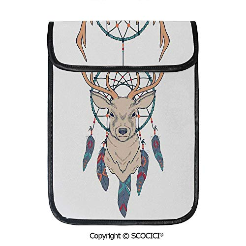 - SCOCICI Simple Protective Roe Deer with Native American Tribal Dreamcatcher Ethnic Folk Art Style Sketch Decorative Pouch Bag Sleeve Case Cover for 12.9 inches Tablets