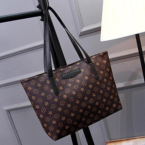 Aoligei Cypripède Cross Pack européen et américain grand sac vieux sac à main grande capacité sac shopping unique femme sac bandoulière B