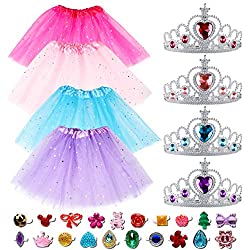 28Pcs Princess Pretend Jewelry