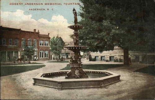 Robert Anderson Memorial Fountain Anderson, South Carolina Original Vintage - Fountain Anderson