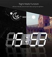 Amazon.com: Harlica Reloj de pared 3D LED moderno digital de ...