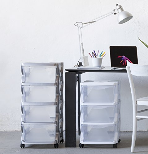 Bama Insieme Stackable 3 Drawer Chest, Silver, 36 x 40 x 62 cm by Bama (Image #3)