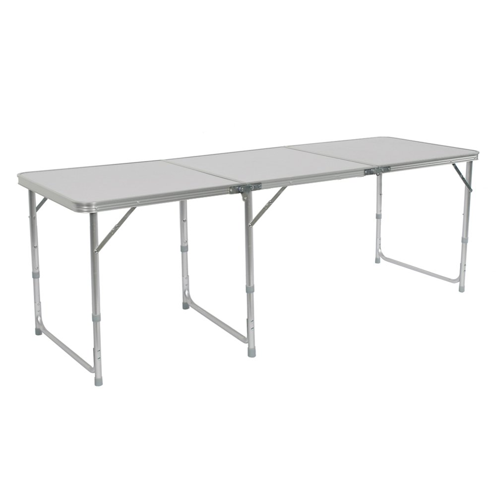 Lovinland Folding Table Portable Camping Table 3//4// 6 Ft Aluminum Table for Picnic Party Dining 3 Ft